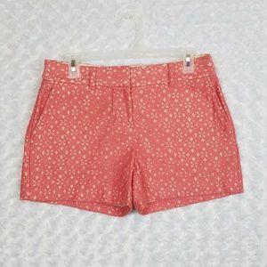 LOFT Size 2 Lace Original Shorts Coral Mauve